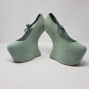 Jeffrey Campbell Nightwalk Platform Mint Shoes
